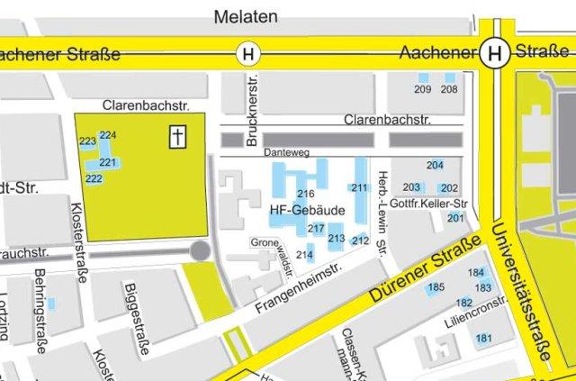 Lageplan Gronewaldstr. 2